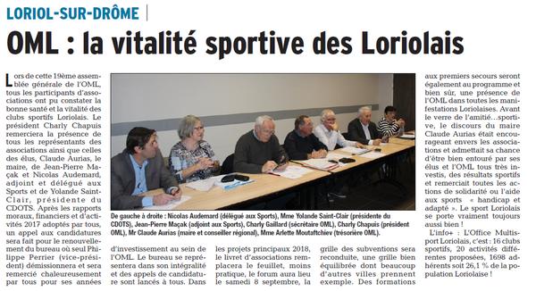 Dauphiné Libéré  du 07-02-2018