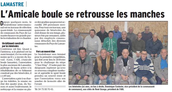 Dauphiné Libéré  du 16-02-2018