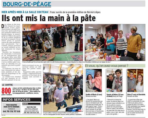 Dauphiné Libéré -04-02-2018