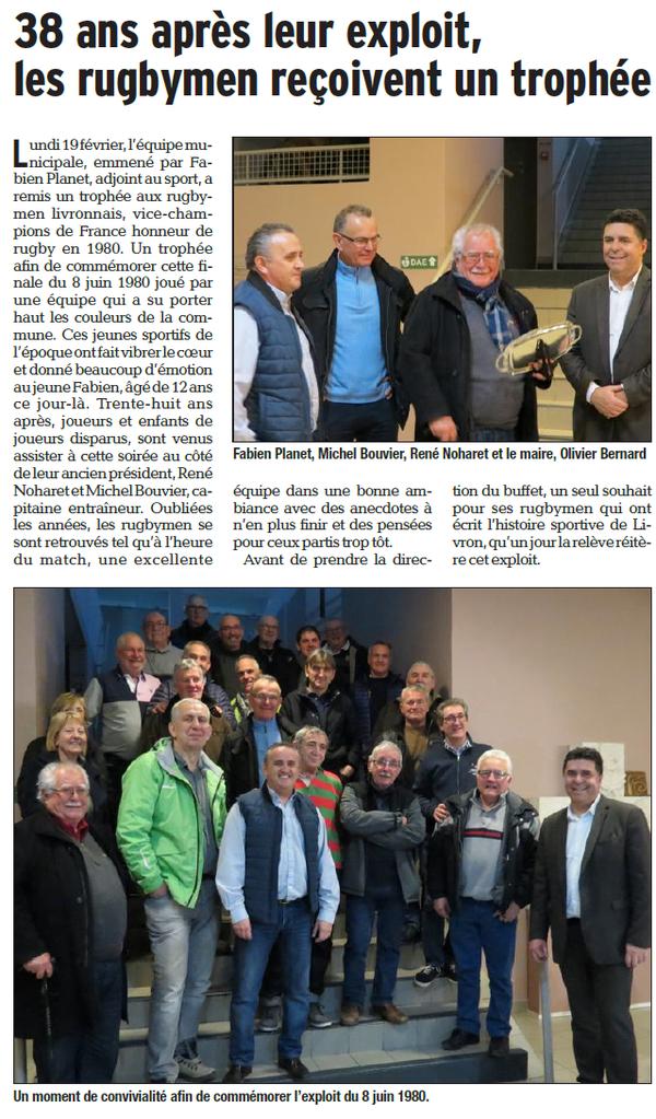 Dauphiné Libéré  du 21-02-2018