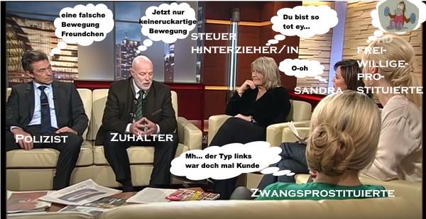 Fauntleroy, Maischberger, Sendung, Prostitution