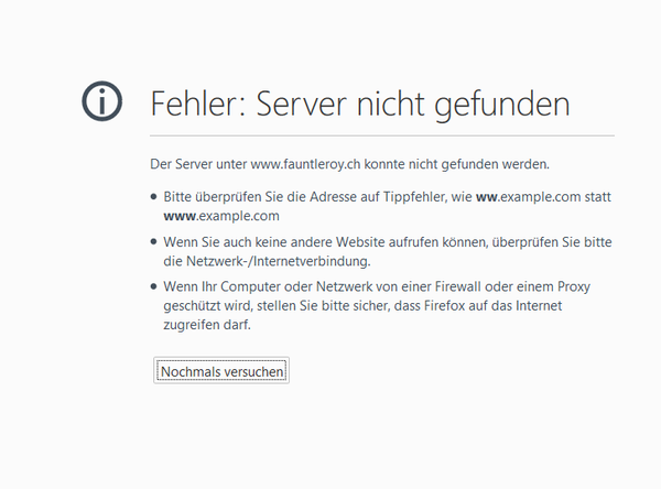 Fauntleroy Skynet Windows Fehler Probleme