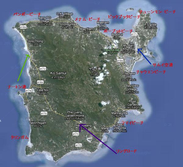 サムイ島マップ