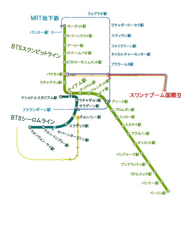 BTS・MRT 路線図