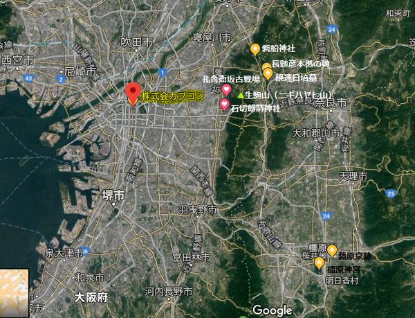 大阪平野と生駒山地 (筆者作成)