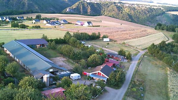 Luftbild von unserem Hof