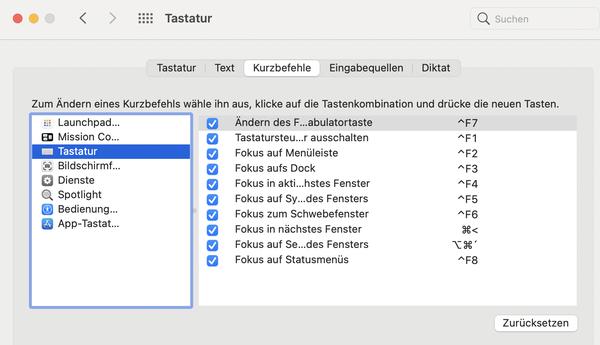 MAC OS Excel zwischen Fenstern wechseln