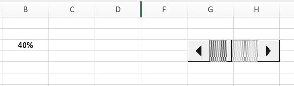 Excel Scrollbar hinzufügen Prozentbalken