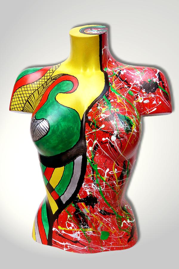 Torso 12 / 17, Skulptur, bunt, abstrakt, Art, Kunst, Malerei, Original, Unikat, Kunststoff, Acryl