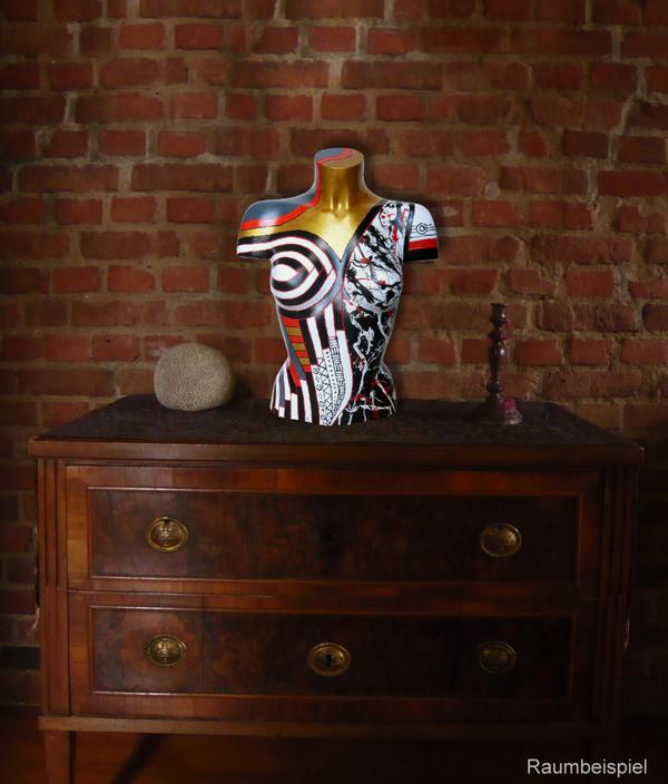 Torso 13 / 34, Skulptur, bunt, abstrakt, Art, Kunst, Malerei, Original, Unikat, Kunststoff, Acryl, Raumbeispiel