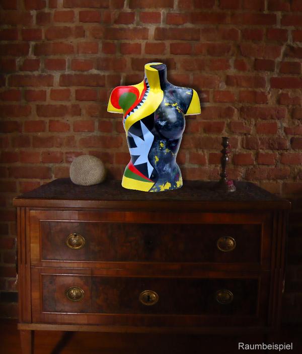 Torso 12 / 11, Skulptur, bunt, abstrakt, Art, Kunst, Malerei, Original, Unikat, Kunststoff, Acryl, Raumbeispiel