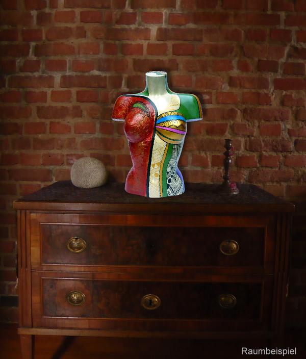 Torso 12 / 18, Skulptur, bunt, abstrakt, Art, Kunst, Malerei, Original, Unikat, Kunststoff, Acryl, Raumbeispiel