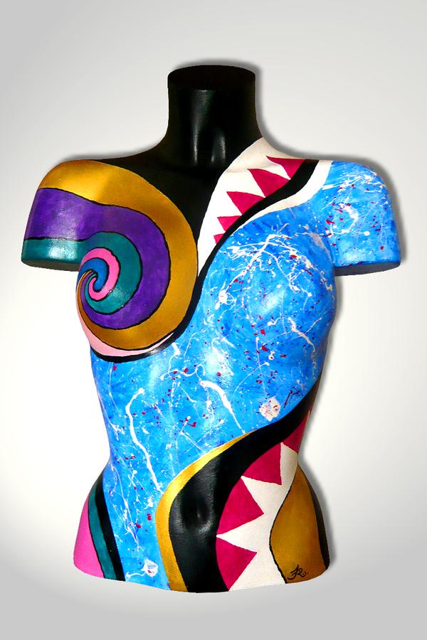 Torso 13 / 54, Skulptur, bunt, abstrakt, Art, Kunst, Malerei, Original, Unikat, Kunststoff, Acryl