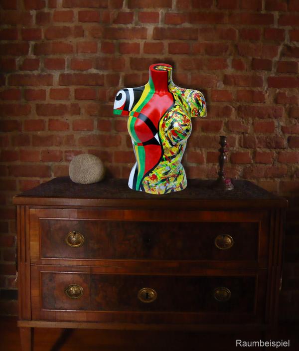 Torso 12 / 16, Skulptur, bunt, abstrakt, Art, Kunst, Malerei, Original, Unikat, Kunststoff, Acryl, Raumbeispiel