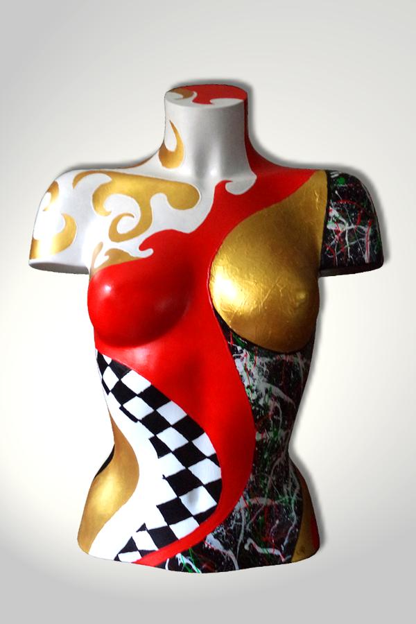 Torso 13 / 58, Skulptur, bunt, abstrakt, Art, Kunst, Malerei, Original, Unikat, Kunststoff, Acryl
