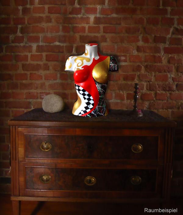 Torso 13 / 58, Skulptur, bunt, abstrakt, Art, Kunst, Malerei, Original, Unikat, Kunststoff, Acryl, Raumbeispiel