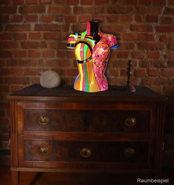 Torso 13 / 47, Skulptur, bunt, abstrakt, Art, Kunst, Malerei, Original, Unikat, Kunststoff, Acryl, Raumbeispiel