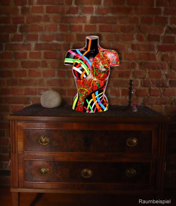 Torso 13 / 39, Skulptur, bunt, abstrakt, Art, Kunst, Malerei, Original, Unikat, Kunststoff, Acryl, Raumbeispiel