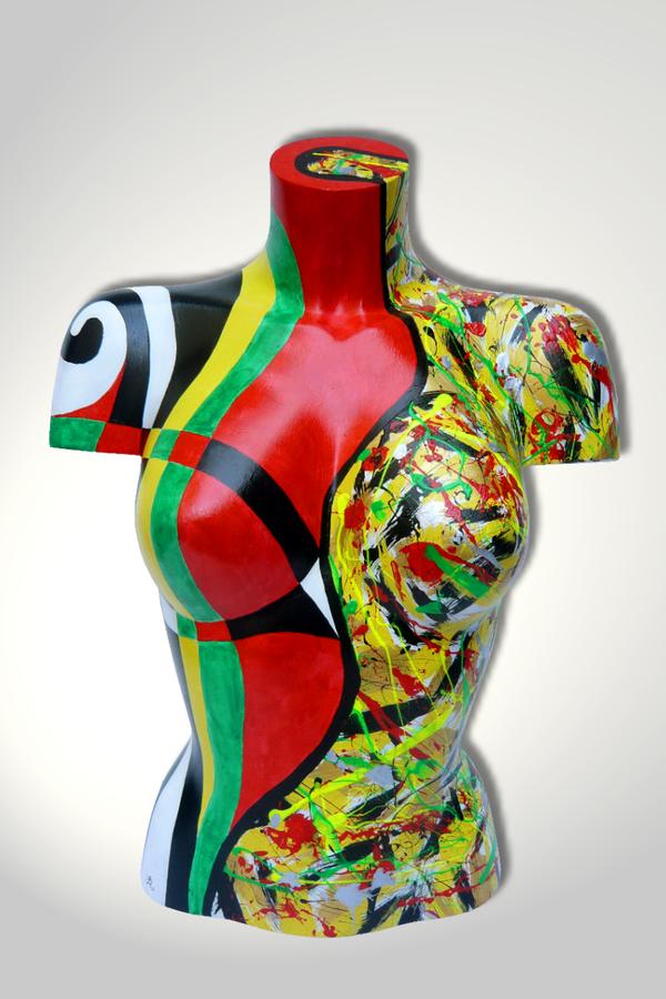 Torso 12 / 16, Skulptur, bunt, abstrakt, Art, Kunst, Malerei, Original, Unikat, Kunststoff, Acryl