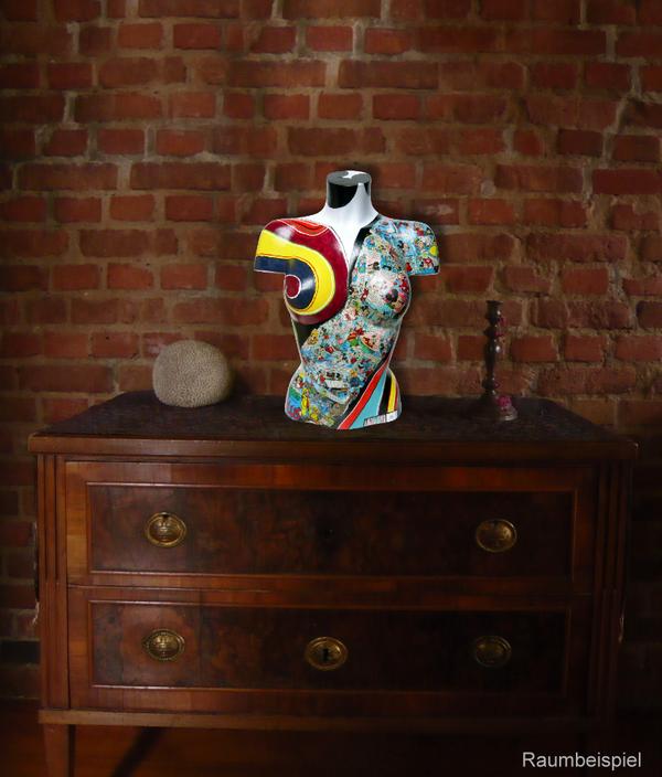 Torso 13 / 41, Skulptur, Collage, bunt, abstrakt, Art, Kunst, Malerei, Original, Unikat, Kunststoff, Acryl, Raumbeispiel