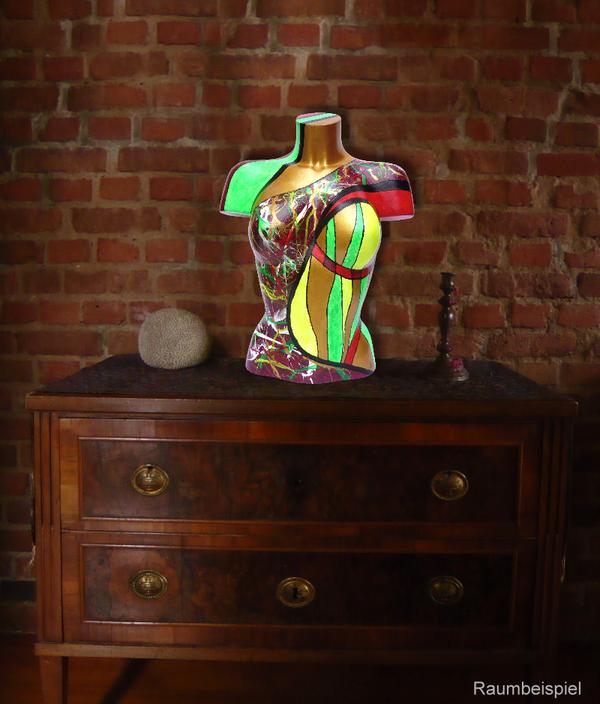 Torso 13 / 29, Skulptur, bunt, abstrakt, Art, Kunst, Malerei, Original, Unikat, Kunststoff, Acryl, Raumbeispiel