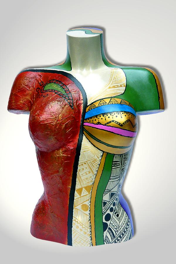 Torso 12 / 19, Skulptur, bunt, abstrakt, Art, Kunst, Malerei, Original, Unikat, Kunststoff, Acryl