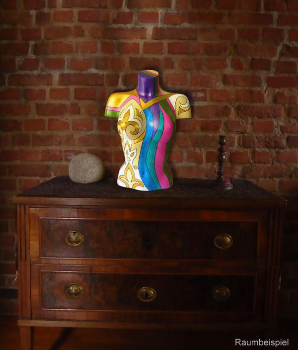 Torso 13 / 60, Skulptur, bunt, abstrakt, Art, Kunst, Malerei, Original, Unikat, Kunststoff, Acryl, Raumbeispiel