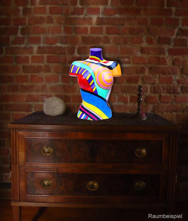 Torso 13 / 52, Skulptur, bunt, abstrakt, Art, Kunst, Malerei, Original, Unikat, Kunststoff, Acryl, Raumbeispiel