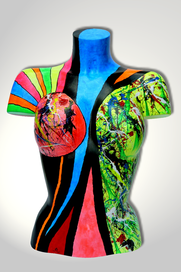 Torso 13 / 24, Skulptur, bunt, abstrakt, Art, Kunst, Malerei, Original, Unikat, Kunststoff, Acryl