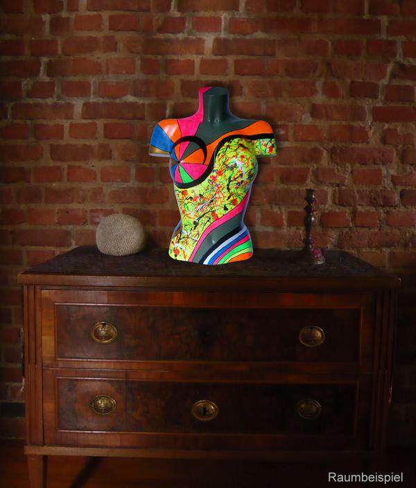 Torso 13 / 48, Skulptur, bunt, abstrakt, Art, Kunst, Malerei, Original, Unikat, Kunststoff, Acryl, Raumbeispiel