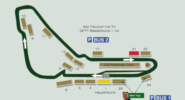 Formel 1 Rennstrecke Monza Italien