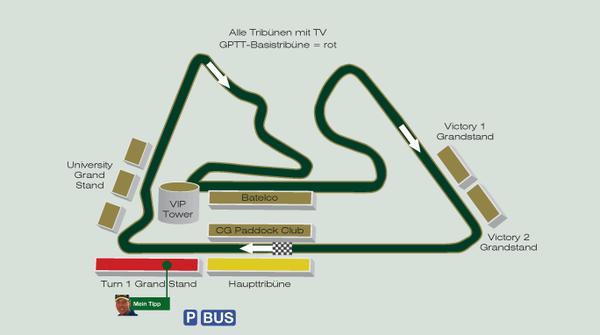 Formel 1 Rennstrecke Bahrain