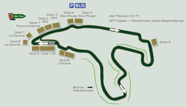 Formel 1 Rennstrecke SPA