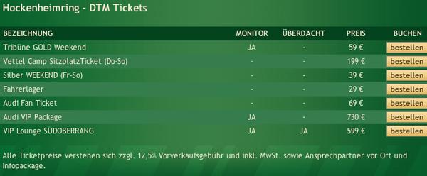 DTM Hockenheimring Tickets