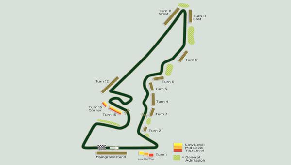 Formel 1 USA Rennstrecke