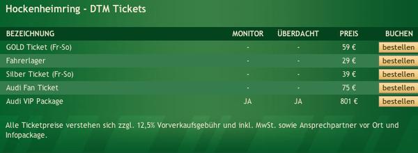 DTM Tickets Hockenheimring