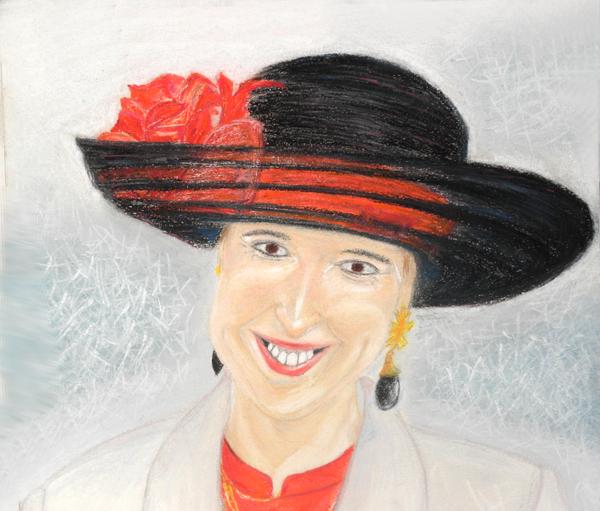 00/7  - Mariage (Portrait   pastel)  -  Premiers Dessins  -  Ph.R  - 1998