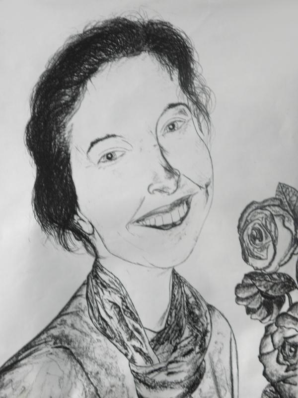 00/5   -  Amour - Portrait dessin - Premiers Dessins  - Ph.R  -  1998