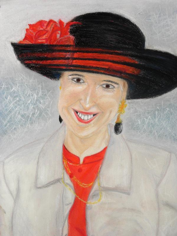 00/6  - Mariage (Portrait   pastel)  -  Premiers Dessins  -  Ph.R  - 1998