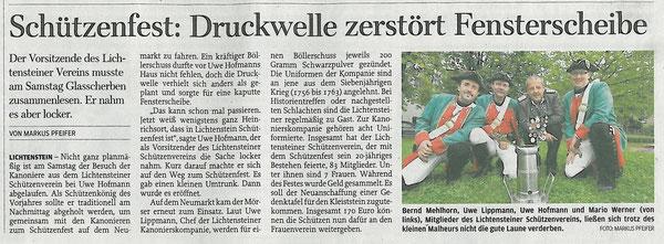 Freie Presse vom 03.09.2012