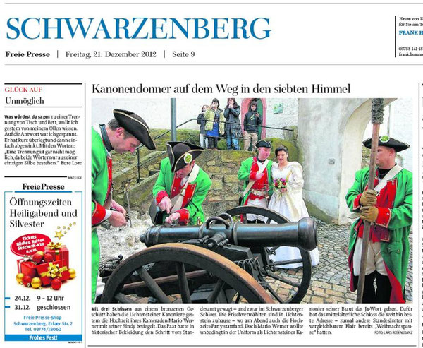 Freie Presse vom 21.12.2012