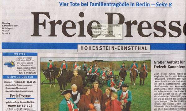 Freie Presse vom 12.05.2006