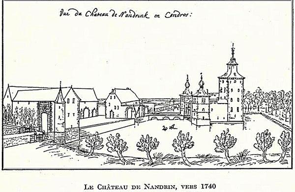 Le Château de Nandrin d'après Remacle Leloup