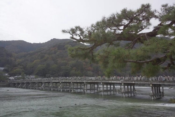 (嵐山の渡月橋)