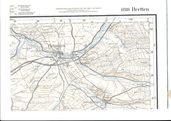 Amtliche Karte von 1959