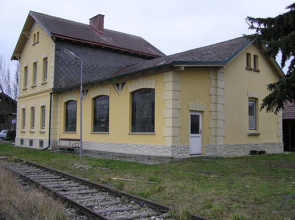Bahnhof Breitstetten erbaut 1909.