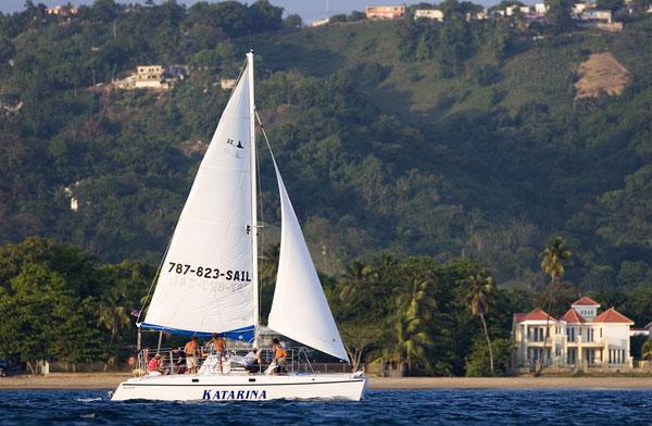 Rincon sailing, sunset cruise, catamaran