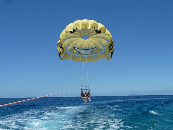 Rincon parasailing, flying fish