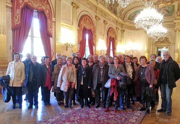 Le groupe MGEN 17 dans la Galerie des fêtes de l'Assemblée nationale le 02-04-2013