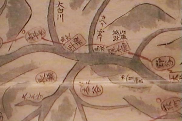 内?城址と書かれた絵図